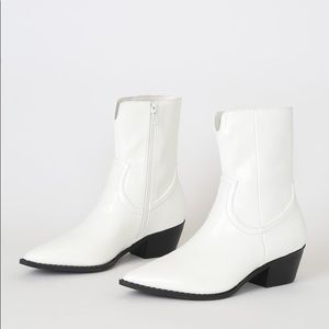 New In Box- Lulu's White Mid-Calf Boots! Brand new
